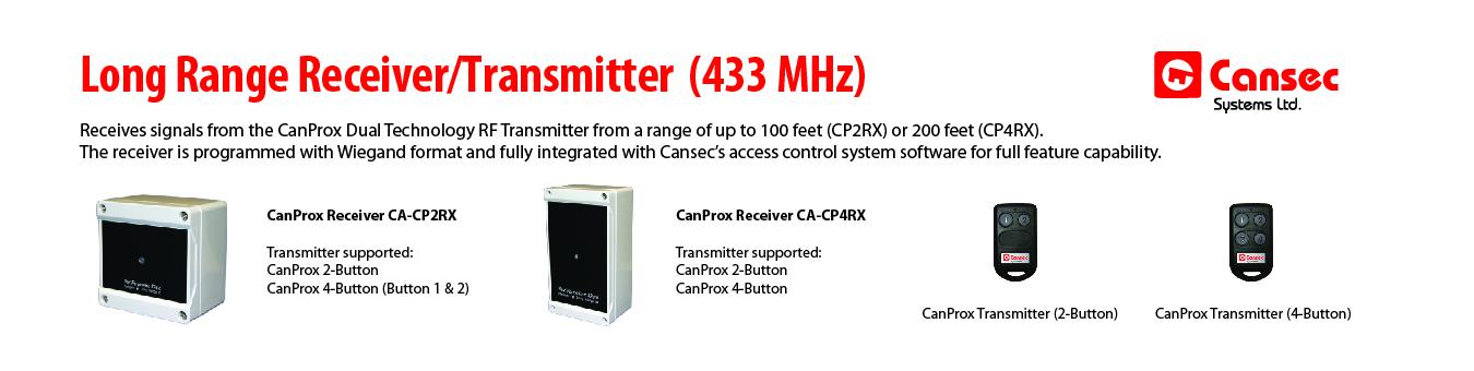 Long range receivers & transmitters