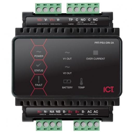 ICT Protege DIN Rail 2A Intelligent Power Supply